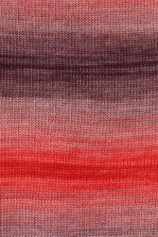Merino 400 Lace Color von Lang Yarns 0061 ROT/GRAU