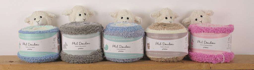 Berühmt Wolle-Wolle.de   Phil Doudou Babydecke von Phildar   Online kaufen HD63